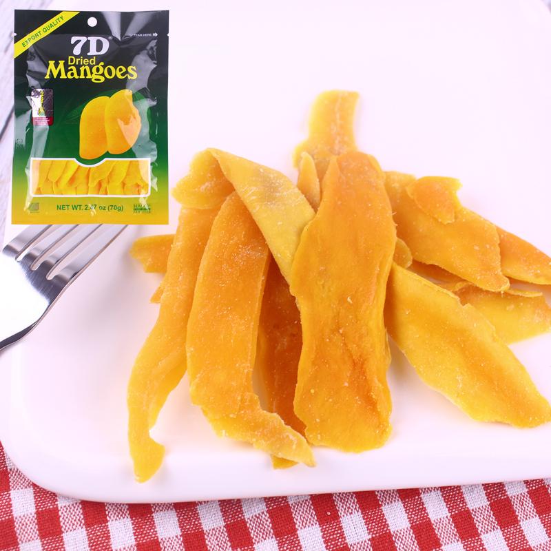 菲律宾进口 道吉草7D芒果干70g袋装蜜饯水果干零食办公室休闲食品图片