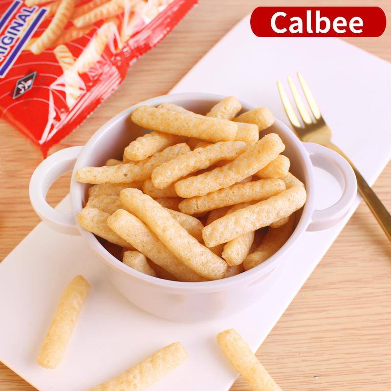 泰国进口零食品 calbee卡乐比原味虾条90g袋装膨化食品休闲淘宝优惠券