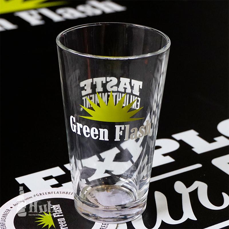 美国原装进口 绿色闪电啤酒杯Green Flash绿闪专用配套杯子玻璃杯
