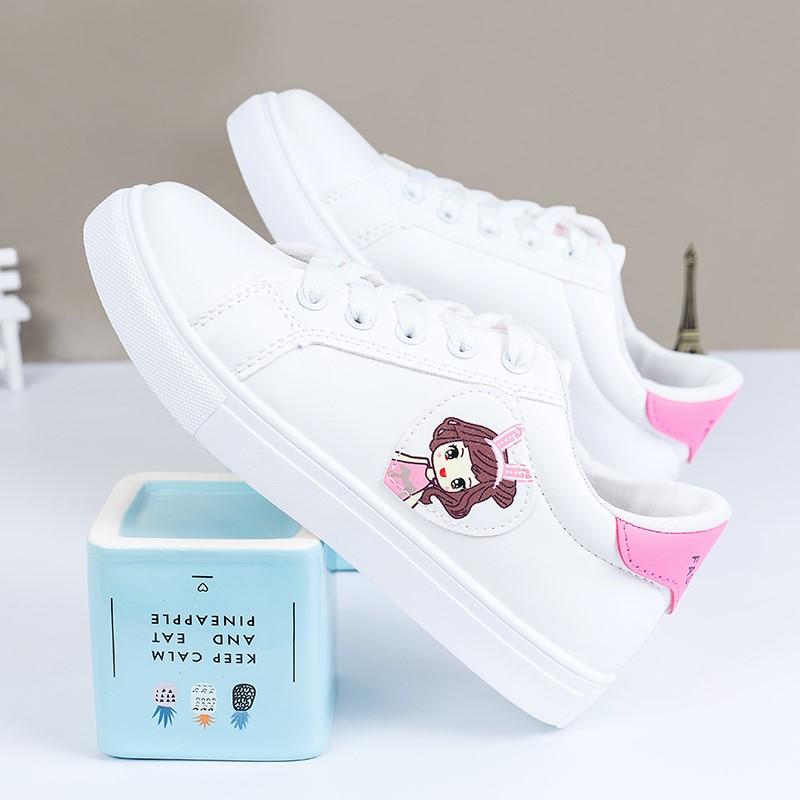 2019夏季新款小白中大童球鞋运动鞋透气鞋女孩子中小学生鞋子板鞋