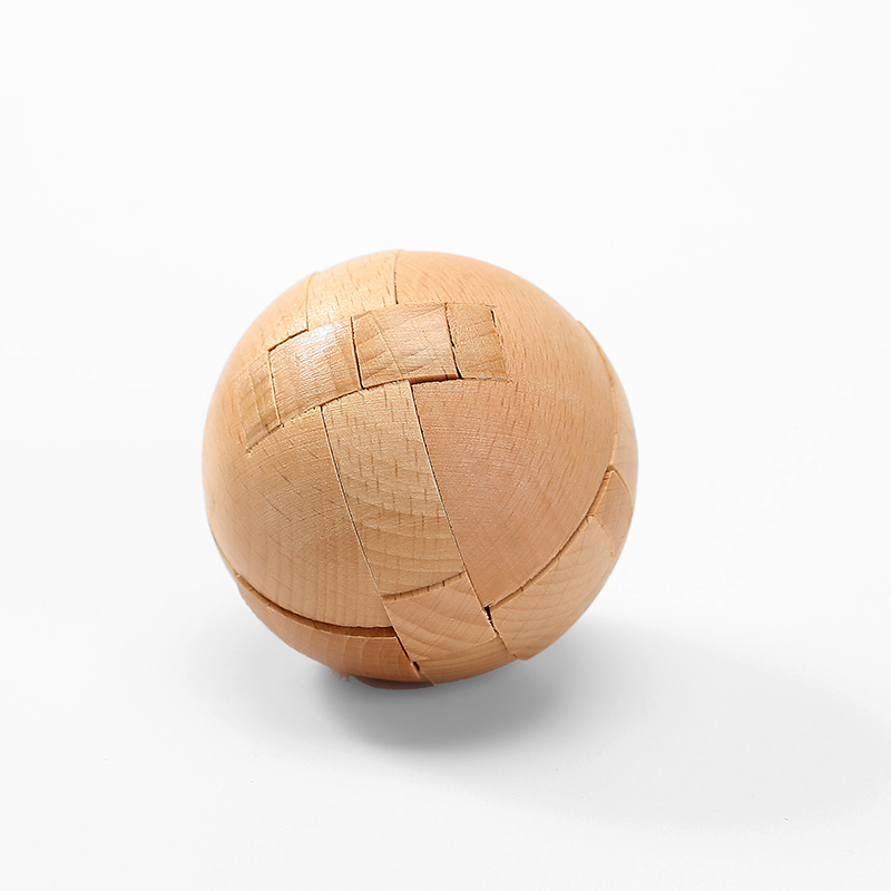 Kongming lock wooden Luban ball difficult disassembly and assembly of intellectual classical student educational toy ball lock