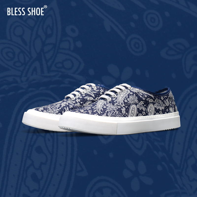 Less shoe Paisley 20aw Paisley cashew canvas shoes skateboard mens and womens casual shoes
