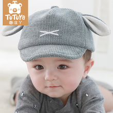 Baby hat Fall, Spring, Autumn and Winter Baby hat tide Boys and girls pure cotton thin/thick duck tongue sunscreen