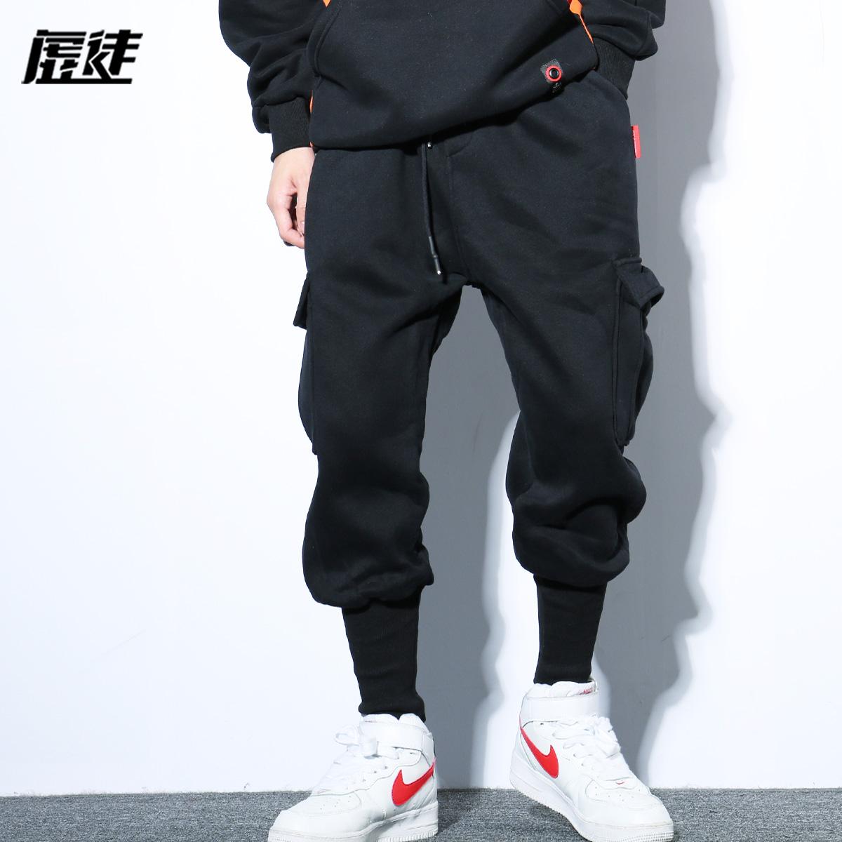 138.00元包邮男秋宽松缩脚老爹萝卜裤收口工装裤