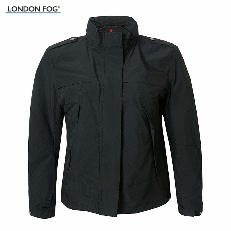 LONDON FOG/伦敦雾女装商务休闲纯色合身短外套 LW14WY601