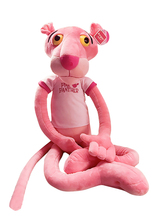 Pink Panther Boy Doll Lovely Dalang Pink Naughty Panther Plush Toy Pillow Holding Birthday Girl