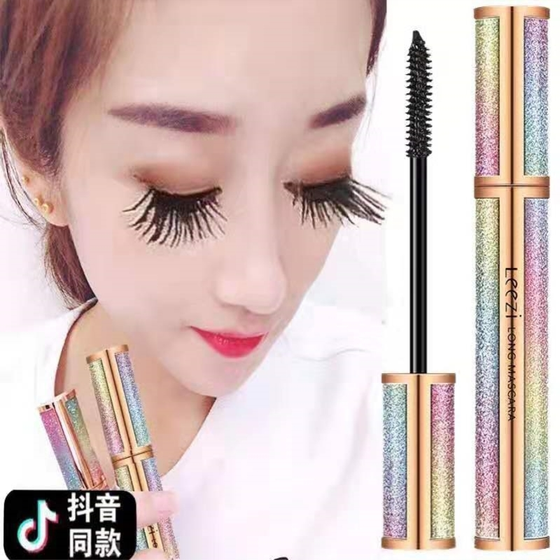Tiktok waterproof mascara lengthen, silk is durable, natural curling, long and thick, and sweat resistant.