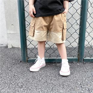 休閒工裝褲童裝男童褲子夏季2020新款兒童夏裝短褲中大童洋氣潮
