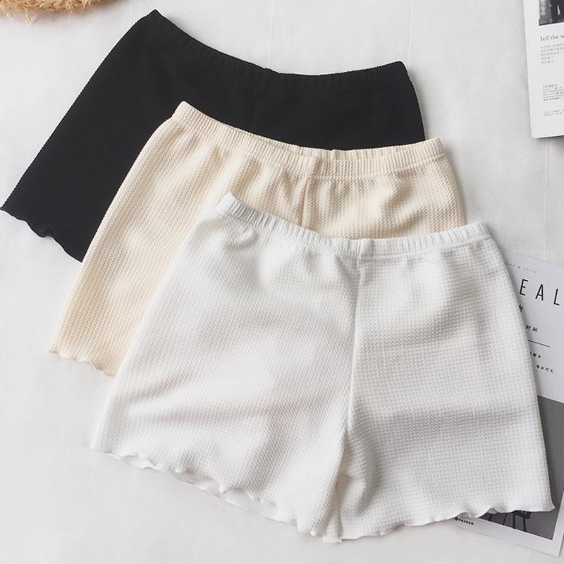 安全裤女白色打底裤夏季无痕保险裤防走光短裤冰丝外穿新薄款裤子