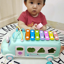 Baby boy Octopus Hand beat piano toy 8 months child 0-1-3 year old puzzle percussion musical with steel xylophone