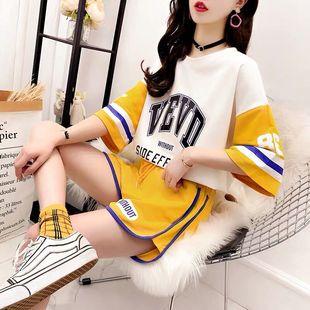 热卖休闲时尚运动服套装女宽松韩版网红两件套短裤社会夏季2020夏
