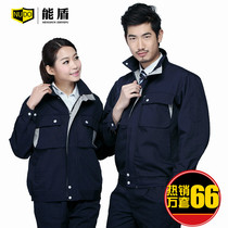 Can shield the spring and autumn long-sleeved overalls suit mens shirt custom wear Repair Factory service tooling welding clothing labor insurance clothing