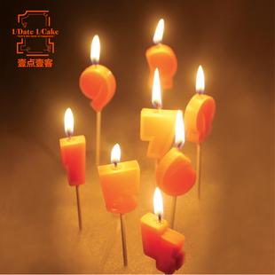 生日蛋糕蜡烛 壹点壹客一点一刻一客数字蜡烛 不单独配送