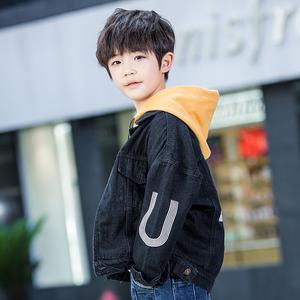男童装牛仔外套2019春秋季新款儿童洋气夹克10-12岁中大童上衣潮