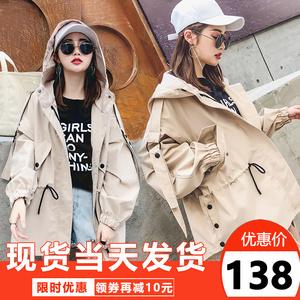 风衣女短款春秋季2020新款韩版休闲宽松矮小个子bf工装外套学生潮