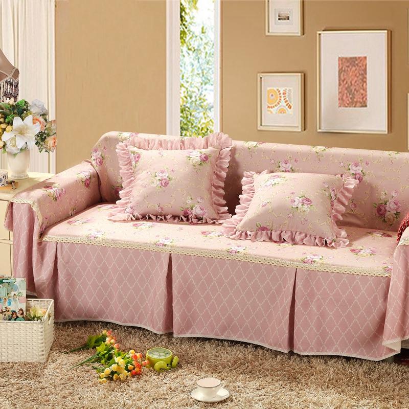 田园布艺组合沙发套全盖沙发罩全包巾垫套子客厅四季防滑盖布11-03新券