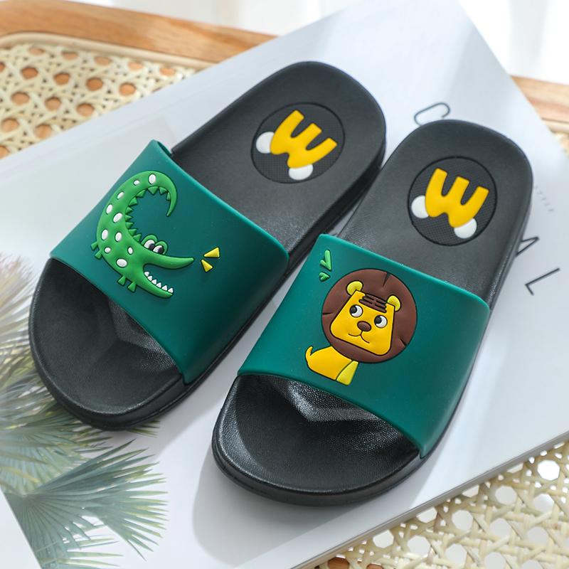 儿童拖鞋夏季男童亲子可爱卡通狮子鳄鱼防滑女宝宝中大童一家三口