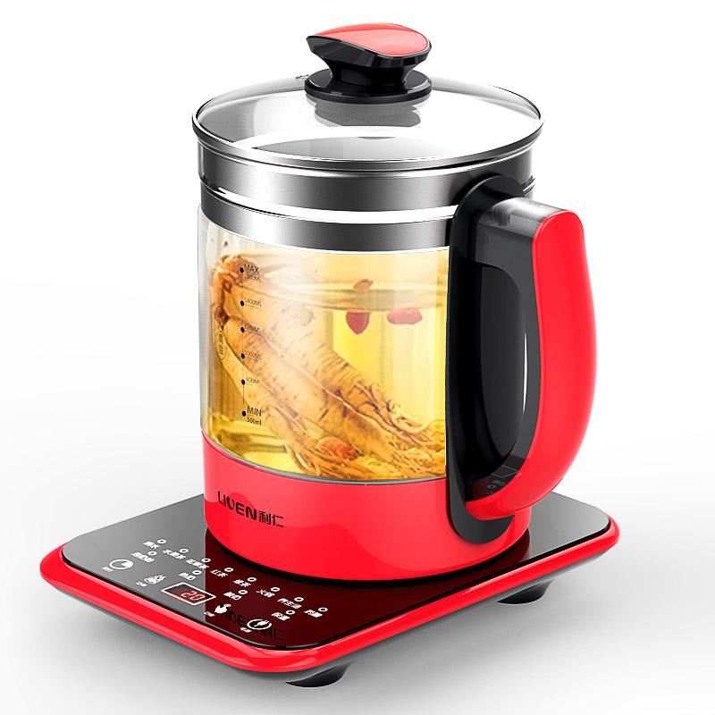 利仁LR-D1802全自动加厚玻璃养生壶家用多功能煮茶器健康养生壶