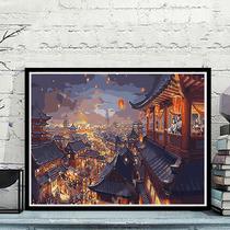 厚油肌理立體山脈手繪抽象油畫現代簡約北歐掛畫玄關客廳裝飾畫