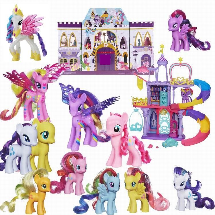 小马宝莉公仔玩具摆件全套紫悦宇宙月亮公主套装女孩玩偶小马