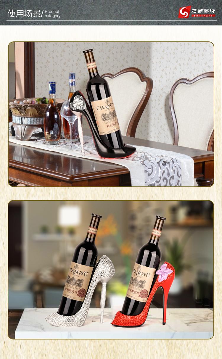 Home decoration creative wine wine rack wine cabinet decoration high heels hanging rack hanging cup rack upside down