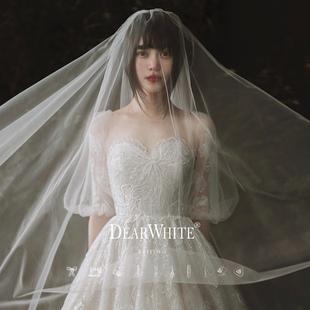 亲爱的白《花音》主婚纱2019新款新娘冬季轻礼服超仙梦幻拖尾森系