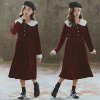 女童丝绒连衣裙秋冬款洋气儿童裙子