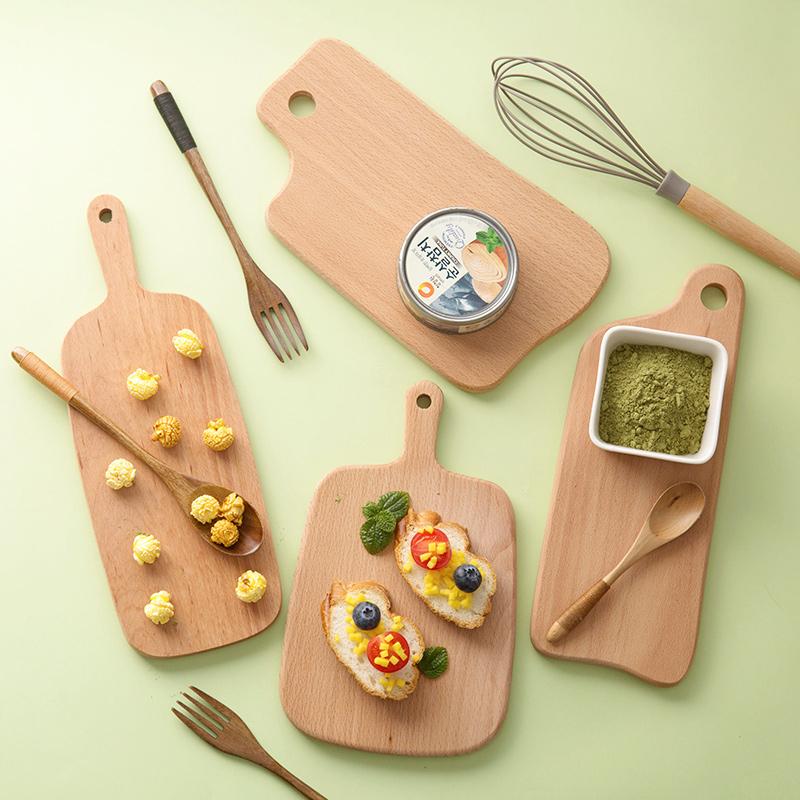 木质加厚菜板砧板水果切板家用木菜板实木粘板小案板水果板切菜板(非品牌)