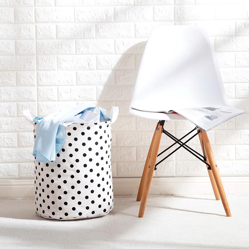 可折叠防水脏衣篮棉麻玩具收纳筐浴室装衣服的收纳桶脏衣篓洗衣篮