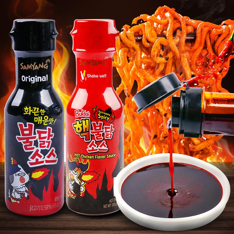 韩国三养超辣火鸡面酱料进口原装变态辣调味酱料包韩式拌面酱瓶装图片