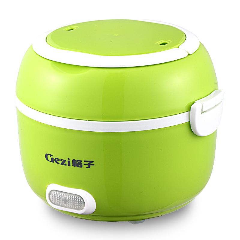 格子電熱飯盒雙層電飯盒 保溫飯盒可插電加熱飯盒 迷你蒸煮熱飯器
