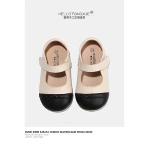 慕葵家女童公主鞋新款玛丽珍宝宝小皮鞋软底韩版小香风单鞋豆豆鞋