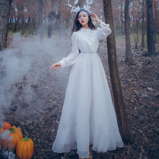 高個子長裙到腳踝的連衣裙子仙女超仙森系學生氣質女裝170超長款