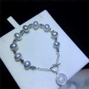 新品歐美風天然淡水珍珠時尚手鏈氣質百搭款送女友禮盒包裝
