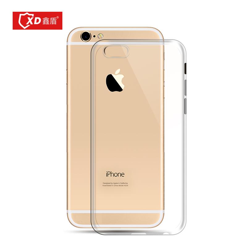 鑫盾 iPhone6s plus手機殼5.5蘋果6plus矽膠套簡約防摔透明防塵塞