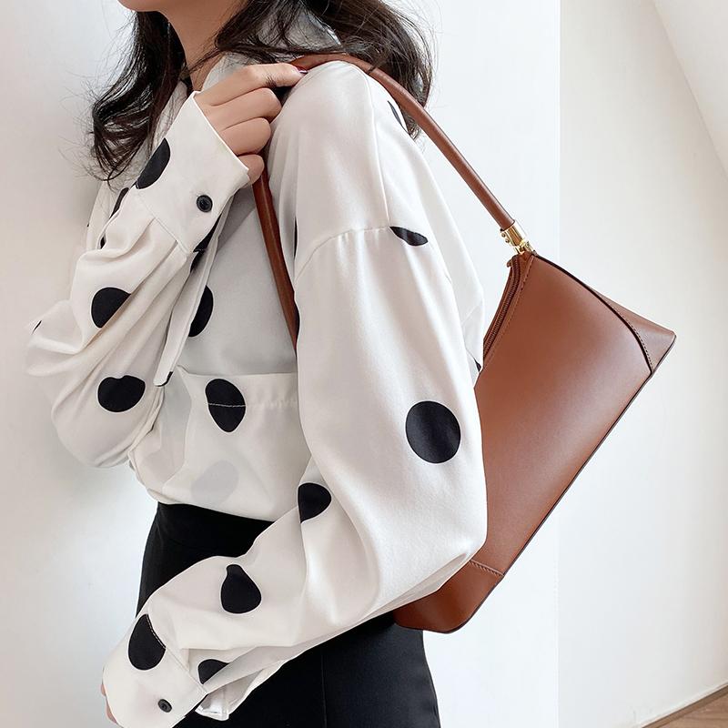 2020新款腋下包女法棍包复古真皮单肩包小包小众设计法式女手提包