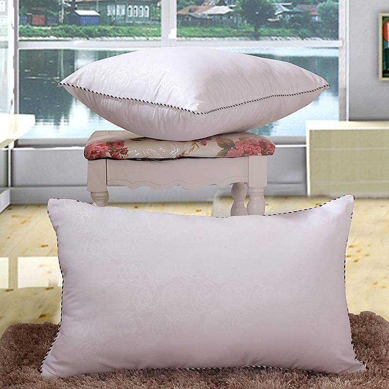 宾馆床上用品九孔纤维枕头单人 护颈枕芯 一个 家纺床品