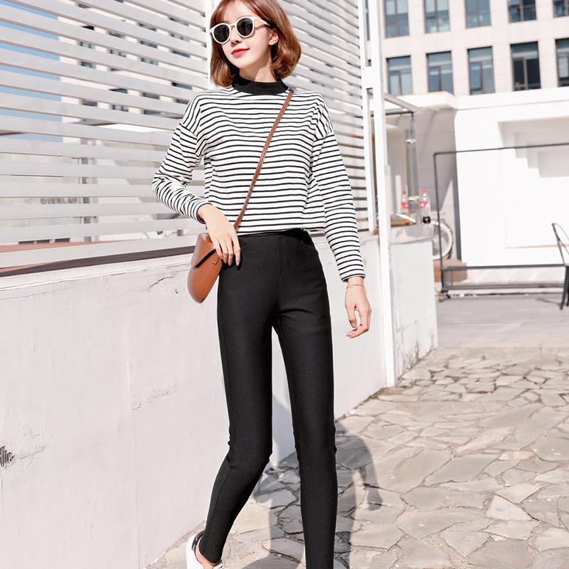 卡图帝亚牛仔裤女裤子宽松直筒显瘦小脚自然腰紧身破洞薄款夏季