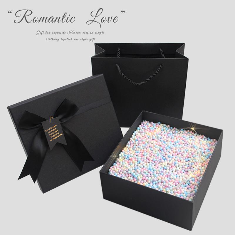 礼物盒子男生款生日礼盒包装盒520礼品盒ins风网红创意空盒大口红图片