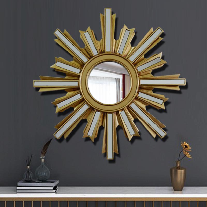 欧式太阳镜子壁挂客厅玄关墙面创意工业风卧室墙上装饰品