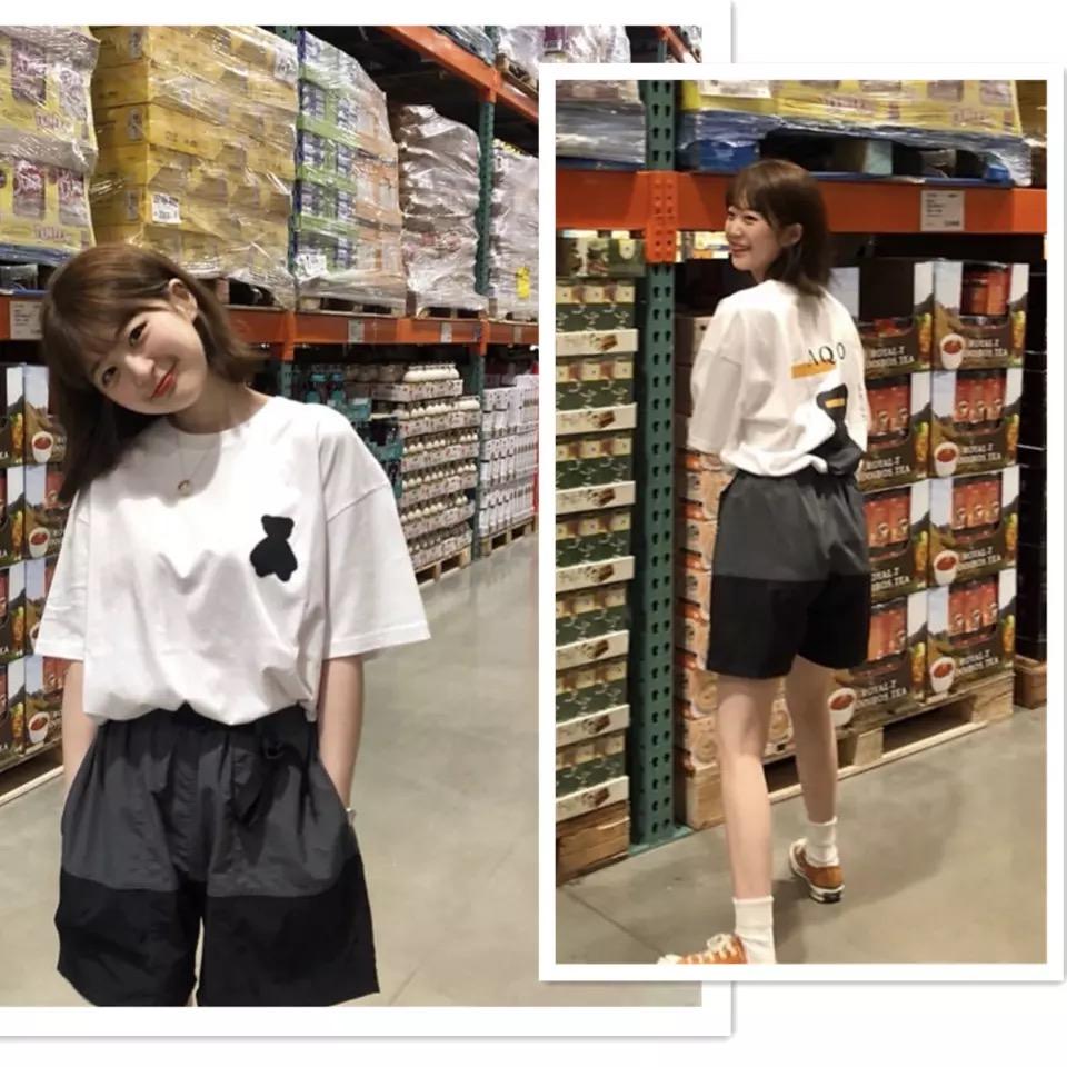 [REコンテナ] 定制 IU同款韩国爱豆都穿的可爱的墨水小熊短袖T恤