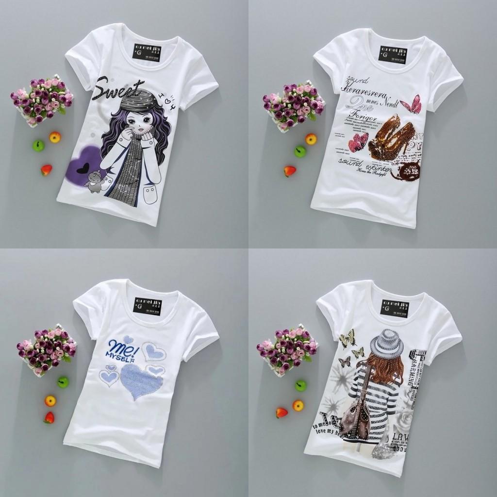 新款便宜包邮9.9元九块九女装圆领修身潮韩版T恤短袖9块10元半袖