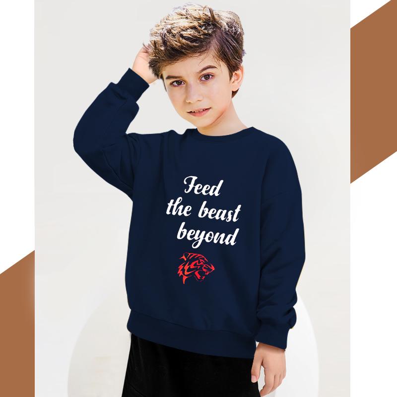 男童卫衣新款春秋装韩版儿童字母印花童装女童中小童洋气潮打底衫