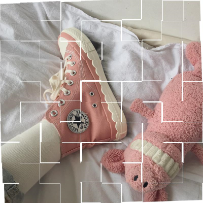 Pink Canvas Shoes Womens Korean version 1970s wave lace pattern womens shoes Sakura Japan Department College High help girl.