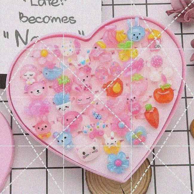 Heart shaped hair ornaments childrens hair rings cute childrens toy rings girls plastic girls