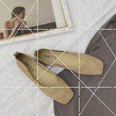 女鞋单鞋2020新款春季简约方头浅口平底奶奶鞋chic百搭舒适豆豆鞋