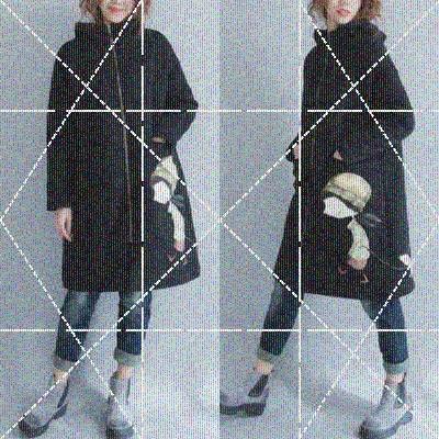 秋冬季洋气宽松卫衣拉链中长款大码女装胖mm减龄遮肚加绒加厚外套