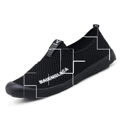 Mens clay sports shoes deodorant summer mesh shoes walking shoes mens earth breathable full mesh shoes comfortable lazy man mesh surface.