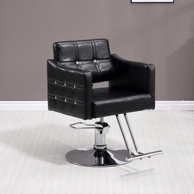 发廊专用理发椅美发店椅子复古洗头床实木椅子 理发店椅子升降欧式