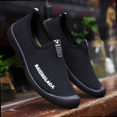 Authentic mens earth sports shoes deodorant summer mesh shoes walking shoes mens earth breathable full mesh shoes comfortable lazy.